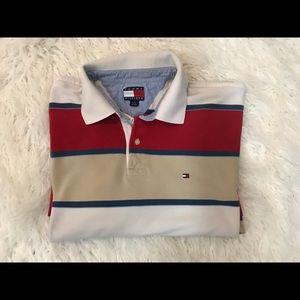 Tommy Hilfiger striped polo shirt size L